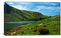 """Blue skies at Wastwater"", Canvas Print"