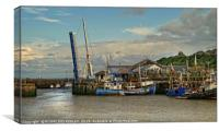 """""""Ready for an evening of fishing at Maryport"""", Canvas Print"""