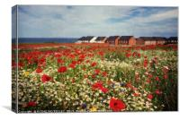 """Poppies at the seaside"", Canvas Print"
