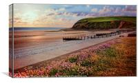 """Evening Light at St.Bees"", Canvas Print"
