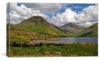 """3D Clouds at Wast Water"", Canvas Print"