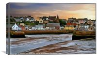 """Tide's out at Maryport"", Canvas Print"
