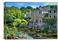 """Windy day at Grassington"", Canvas Print"