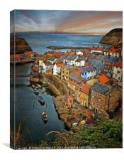 """Rustic Staithes"", Canvas Print"