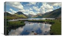 """Cloud reflections Wastwater"", Canvas Print"