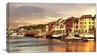 """Evening light Maryport harbour"", Canvas Print"