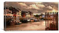 """""""Cloudy sunset at Maryport"""", Canvas Print"""