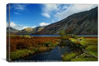 """Autumn evening colours at Wastwater"", Canvas Print"
