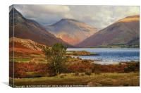"""""""Late evening light at Wastwater"""", Canvas Print"""