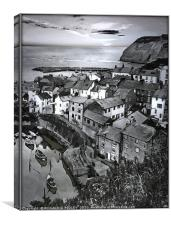 """Portrait of Staithes"", Canvas Print"