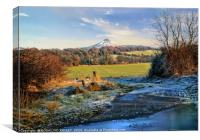 """Snowcapped Roseberry"", Canvas Print"