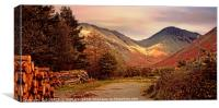 """Golden hour at Great Gable"", Canvas Print"