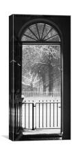 Winter view from a London doorway, Canvas Print