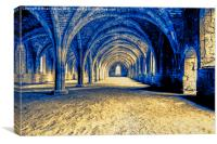 Ruined Abbey Cloisters, Canvas Print
