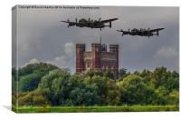 Lancaster Bombers, Canvas Print
