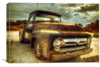 Rusty Ford Truck, Canvas Print