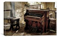 Packard Fort Wayne Organ, Conwy, Canvas Print