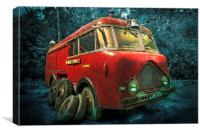 Retired Fire Engine, Canvas Print