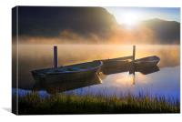 Sunrise on Llyn Nantlle, Canvas Print