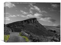 The road to the Roaches rocks, Canvas Print