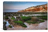 Hunstanton Cliffs and Rocks, Canvas Print