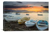 Brancaster Staithe at Sunset, Canvas Print