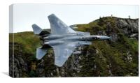 F15c Eagle low level in Wales   , Canvas Print