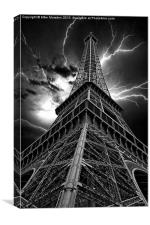 Eiffel Tower - Lightning Storm, Canvas Print