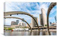 Nathan Phillips Square, Toronto, Canada, Canvas Print