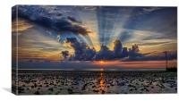 Hunstanton Sunset 150914, Canvas Print