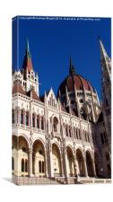 Vertical Wide Angle - Budapest, Canvas Print