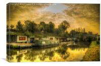 Daresbury canal filling station, Canvas Print
