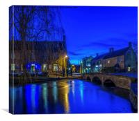 Bourton  on the Water., Canvas Print