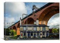 The Stockport Viaduct , Canvas Print