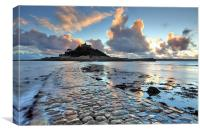 Causeway at Sunset (St Michael's Mount), Canvas Print