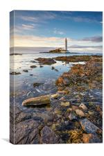 High Tide at St Mary's Lighthouse, Canvas Print