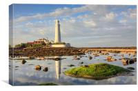 Lighthouse Reflections (St Mary's), Canvas Print