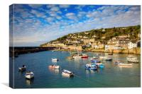 Boats in Mousehole Harbour, Canvas Print