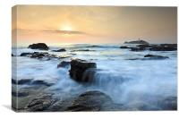 Setting Sun at Godrevy, Canvas Print