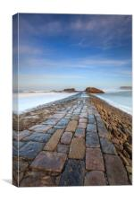 First Light on Bude Breakwater, Canvas Print