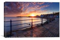 Towards Swanage Pier, Canvas Print