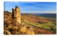 The Pinnacle (Curbar Edge), Canvas Print