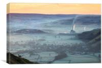 Sheep above the Hope Valley, Canvas Print