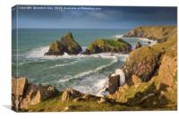 Above Kynance Cove, Canvas Print