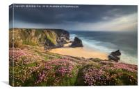 Spring Evening at Bedruthan Steps, Canvas Print