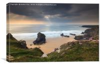 Late Afternoon (Bedruthan Steps, Canvas Print