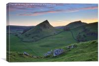 Parkhouse and Chrome Hills at sunset, Canvas Print