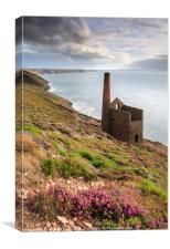 Early evening light (Wheal Coates), Canvas Print
