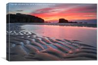 Towards sunset (Perranporth, Canvas Print