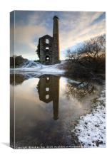 Winter reflections (United Downs), Canvas Print